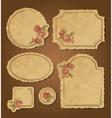 Set of retro floral vintage frames and labels vector image
