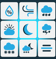 nature colored icons set collection of snowfall vector image