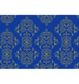 Blue festive ethnic pattern vector image