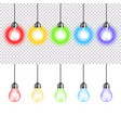 colorful lightbulbs isolated on white vector image