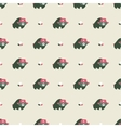 rusian bear seamless pattern vector image