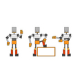three funky robots vector image vector image