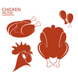 Roasted chicken Isolated meat on white vector image