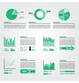 Set of Infographics Elements Green Colors vector image