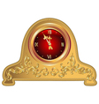 antique clock vector image vector image