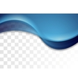 Blue abstract waves corporate background vector image vector image