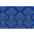 Blue festive ethnic pattern vector image