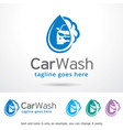 car wash logo template design vector image