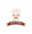 chef character logo vector image