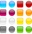 color buttons on white vector image