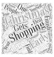 Early Christmas Shopping Word Cloud Concept vector image