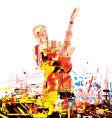 guitarist paint vector image