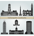 Indianapolis landmarks and monuments vector image