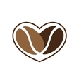 love to coffee vector image