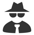 mafia boss flat icon vector image