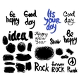 set of words and labels freehand drawing grunge vector image