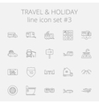 Travel and holiday icon set vector image