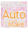 The Autoresponder Outline text background vector image