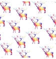 Seamless background with geometric deer vector image