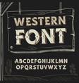 retro western font alphabet on dark vector image