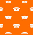 Military hat pattern seamless vector image