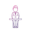 silhouette profesional businessman with laptop and vector image