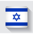 Web button with flag of Israel vector image