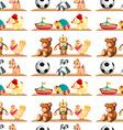 Seamless toys on shelf vector image vector image