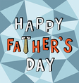 happy father day low poly vector image