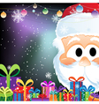 Santa Claus and gift boxes vector image