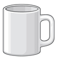 Coffee mug - white cup vector image