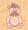 Teddy Hat Mustache vector image
