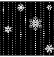 White threads with some snowflakes seamless vector image