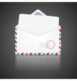 Open envelope with white paper vector image vector image