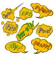 Comics Stile Restroom Sounds vector image vector image