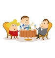 Restaurant couple near table isolated vector image vector image