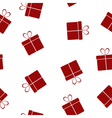 Seamless texture with gifts vector image