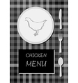 chicken menu vector image