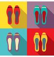 Women Flat Shoes vector image vector image
