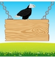 Eagle on board from tree vector image vector image