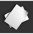 Stack of pages with curved corners Business vector image