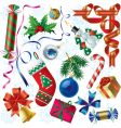 Christmas & New-Year's decorations vector image