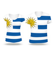 Flag shirt design of Uruguay vector image
