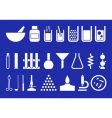 laboratory equipment set of pictogr vector image