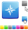 Compass glossy button vector image