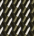 Military dagger seamless pattern 3d background of vector image