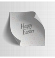 Happy Easter realistic paper greeting Banner vector image
