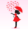 rain of love vector image vector image
