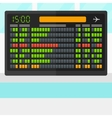 Background of schedule board vector image