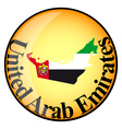 Button United Arab Emirates vector image